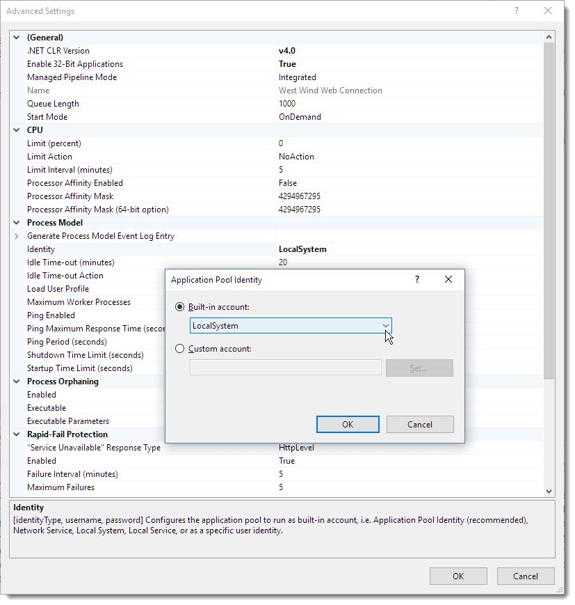 DCOM Configuration (optional) - West Wind Web Connection