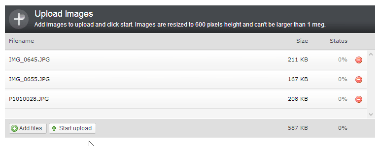 Single File Image Uploads with plUpload and Web Connection