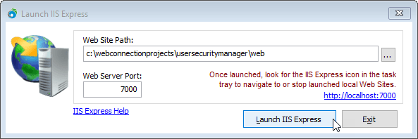 IIS Express Configuration for Web Connection - West Wind Web