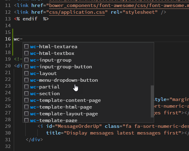 Visual Studio Code Intellisense Code Snippets - West Wind Web Connection